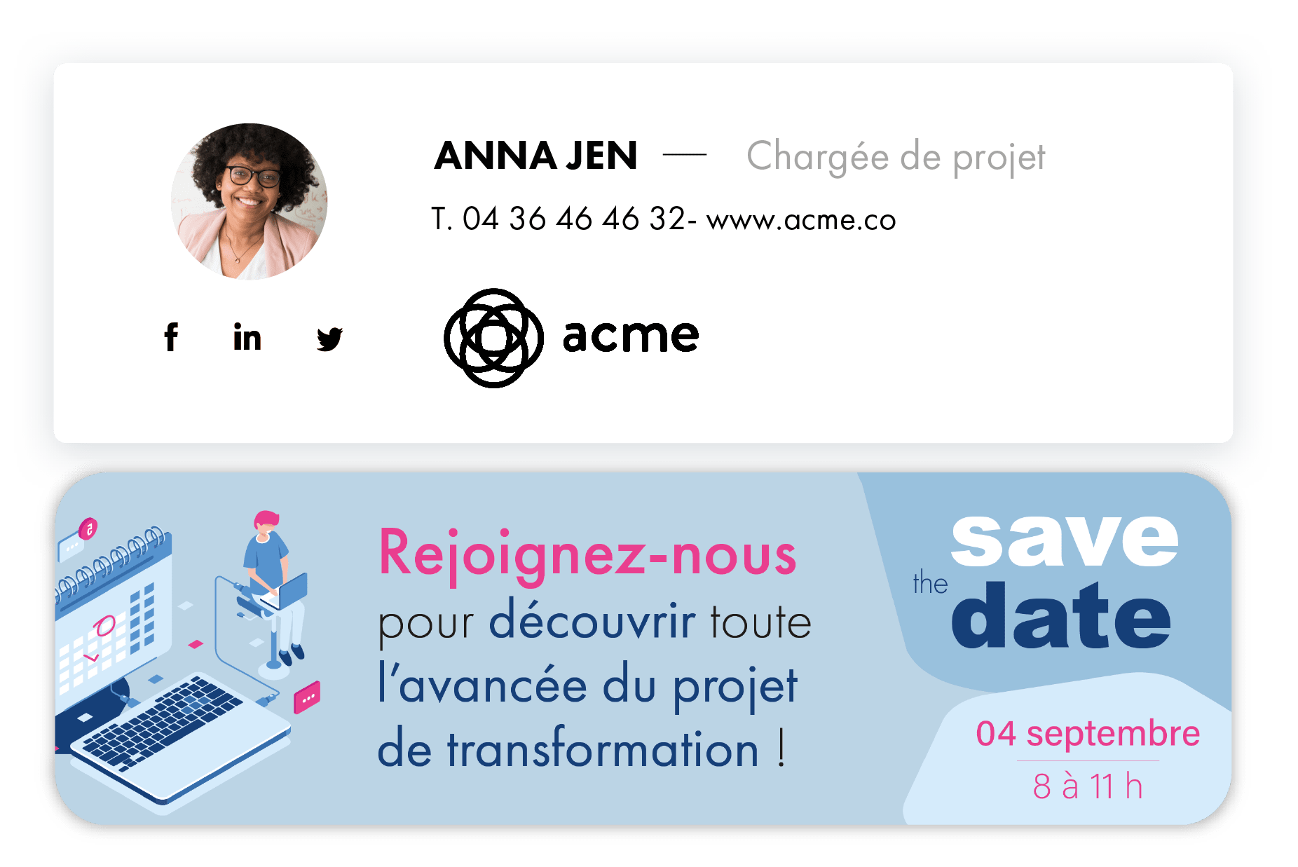 banniere email evenement - save the date - signature mail